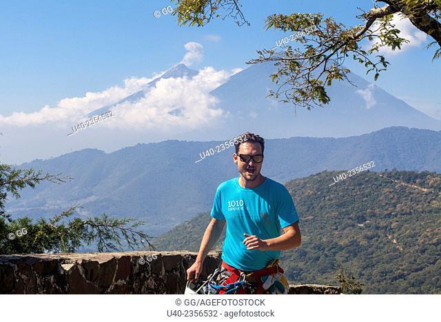 Guatemala, Antigua, man running