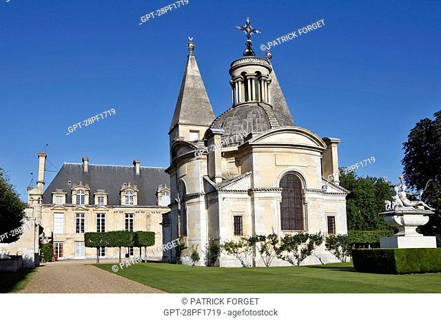 THE CHAPEL OF THE CHATEAU D'ANET, BUILT IN 1550 BY PHILIBERT DE L'ORME FOR DIANE DE POITIERS, HENRI II'S FAVOURITE, EURE-ET-LOIR 28, FRANCE