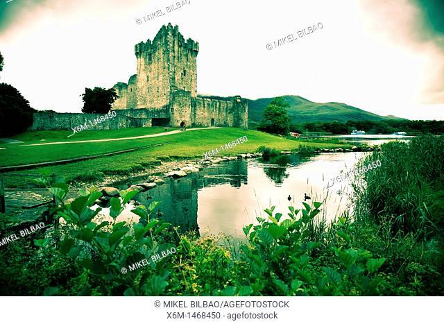 Ross Castle and Leane Lake  Killarney National Park  County Kerry, Ireland