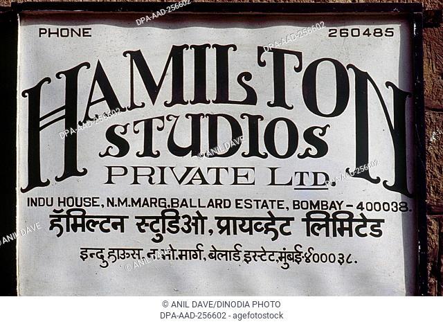 Hamilton photo studio Mumbai, Maharashtra, india, asia