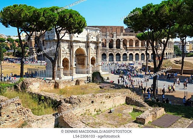 View of Colosseum Rome Italy IT EU Europe