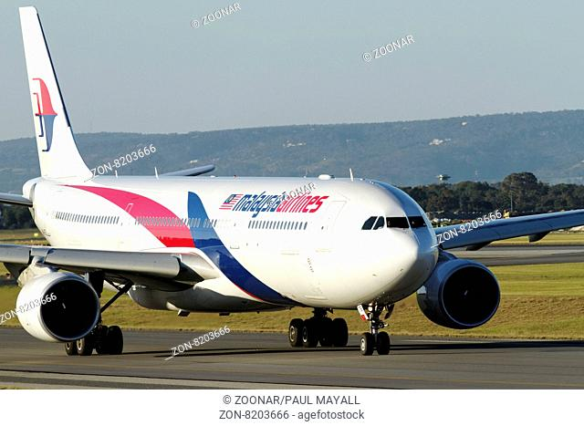 Malaysia Airlines Airbus A330 on runway