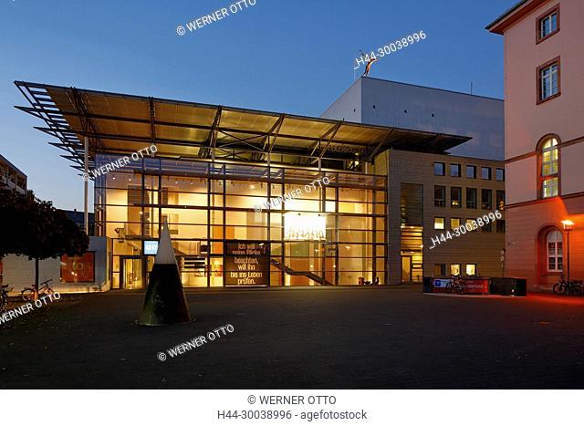 Mainz, Rhein, Rhein-Main-Gebiet, Rheinland, RheinlanPfalz, Staatstheater Mainz, Schauspielhaus, Musiktheater, Tanztheater, Kleines Haus mit Tritonplatz