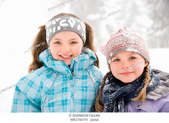 Girls in the snow