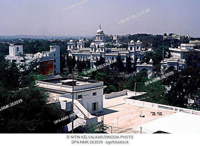 Aerial view of Legislative Assembly Building, Hyderabad, Andhra Pradesh, India, Asia