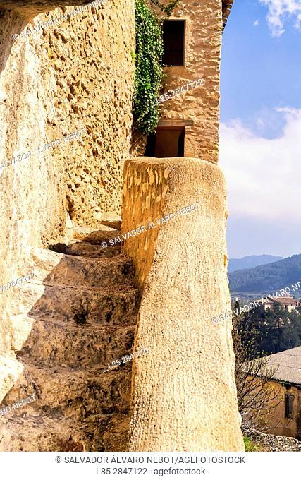 Lookout Tower Portugueses, Bocairent, Vall de Albaida, Valencia, Spain