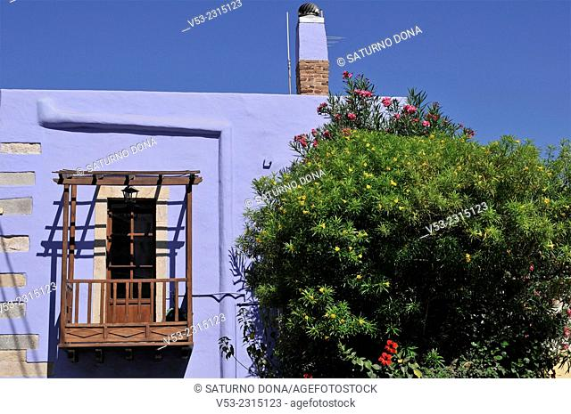 Detail of a house in Agia Marina, Leros Island, Dodecanese, Greece