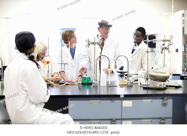college students working in science lab