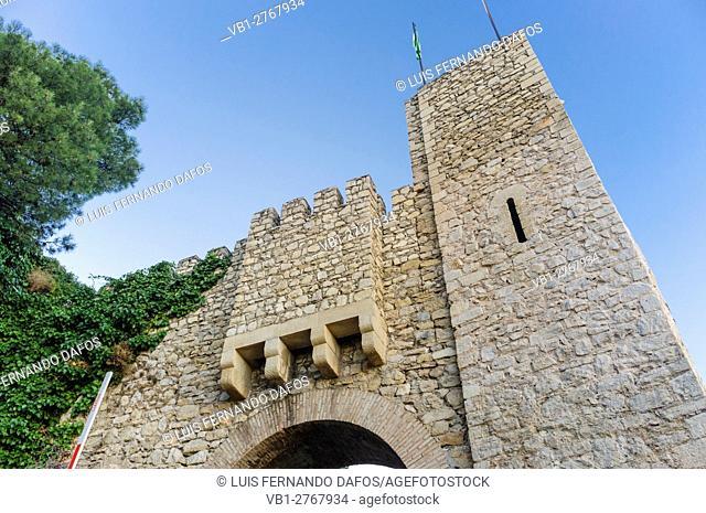 Restored entrance to Santa Catalina castle, Jaen, Andalusia, Spain