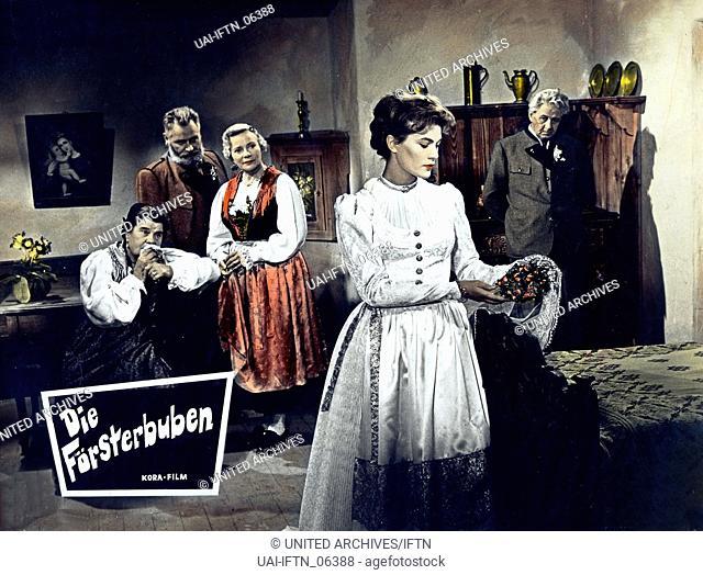 Die Försterbuben, Österreich 1955, Regie: Robert A. Stemmle, Darsteller: Annie Roser, Hermann Ehrhardt, Franziska Kinz, Eva Probst, Paul Hörbiger