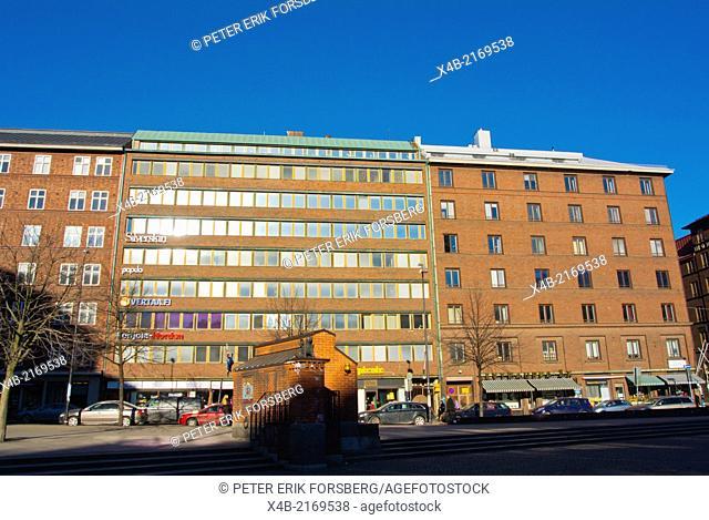 Kampintori square, Kamppi district, central Helsinki, Finland, Europe