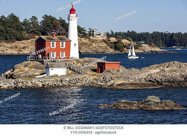 Fisgard Lighthouse and Fort Rodd Hill, Victoria, Vancouver Island, British Columbia, Canada