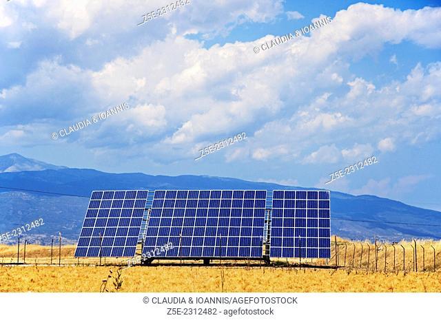 Solar power module in Thessaly, Greece