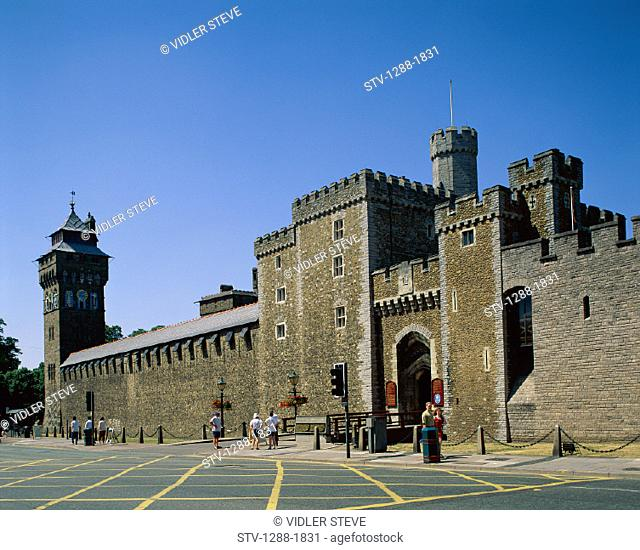 Cardiff, Castle, Fortress, Holiday, Landmark, Medieval, Strength, Strong, Tourism, Tourists, Travel, Vacation, Wales