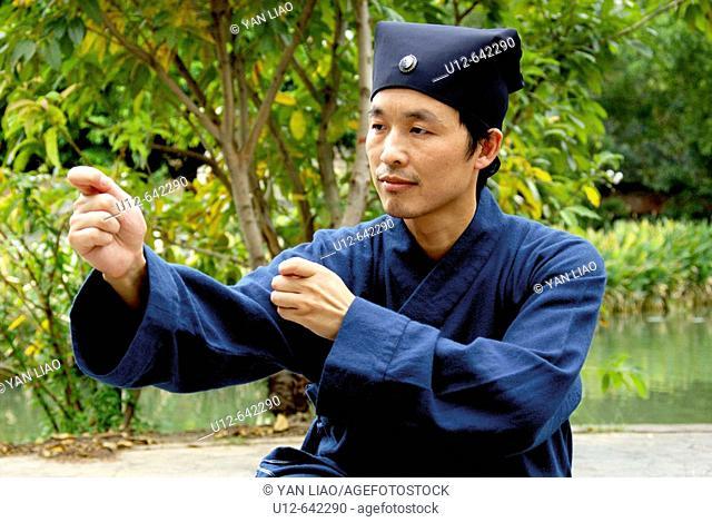 Chinese Kung fu. Wudang Shan. Hubei. China