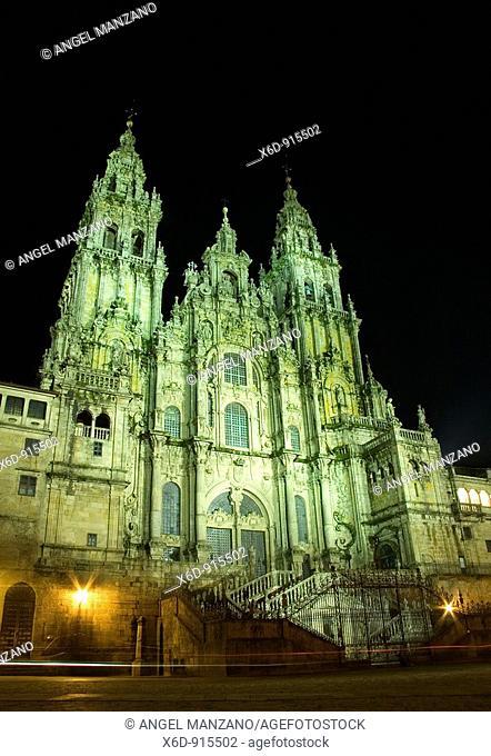 Santiago de Compostela cathedral, Obradoiro Square, Galicia, Spain