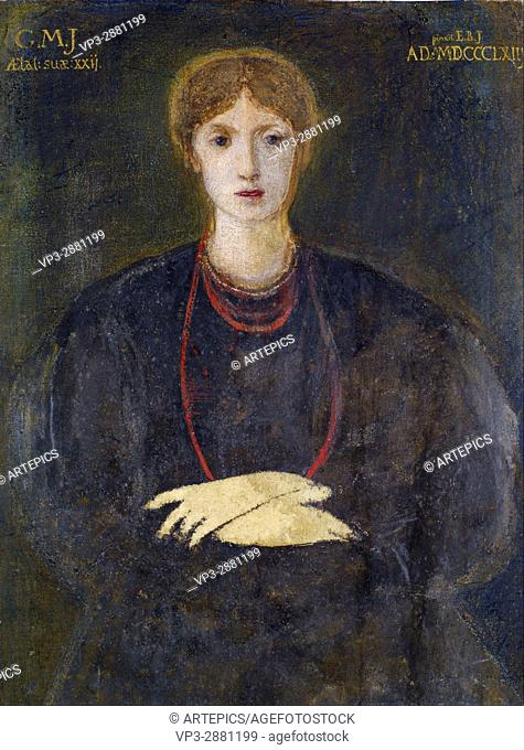 Edward Burne-Jones - Portrait of Georgiana Burne-Jones (1840-1920) - Birmingham Museum and Art Gallery
