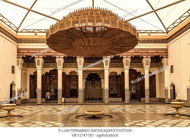 Dar Mnebhi palace museum, Musée de Marrakech, Morocco