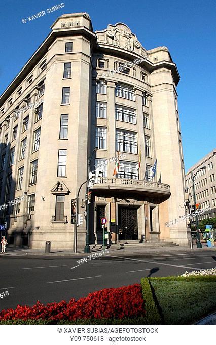 Delegacion de Hacienda Estatal in Plaza Moyua, Bilbao. Biscay, Basque Country, Spain