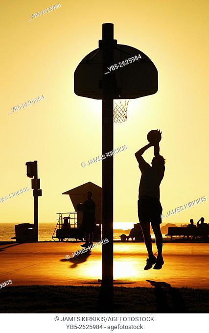 Basketball Game at Sunset, Laguna Beacfh