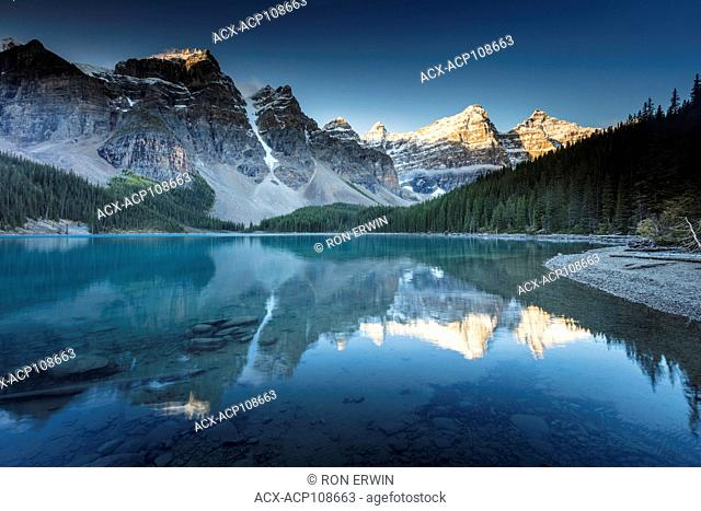 Moraine Lake and the Valley of the Ten Peaks in Banff National Park, Alberta, Canada
