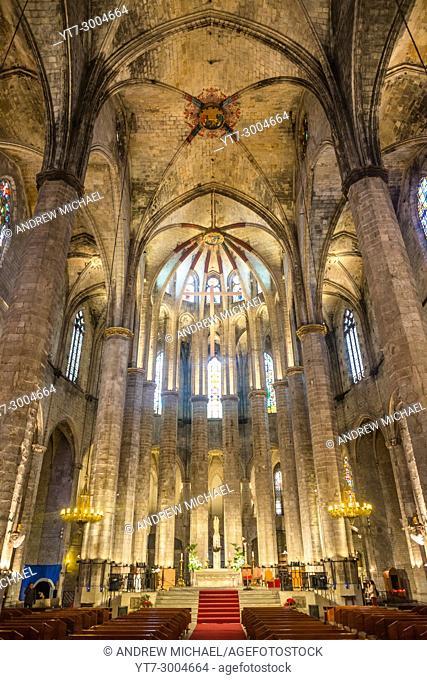 Basílica de Santa María del Mar, Barcelona, Catalonia, Spain