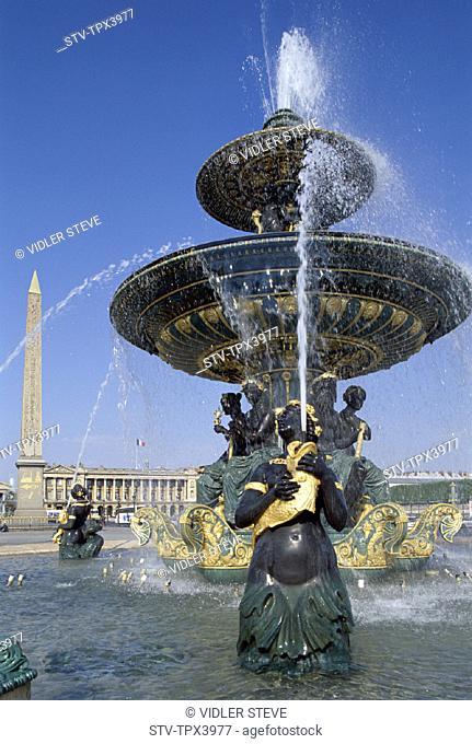 Fountains, France, Europe, Holiday, Landmark, Paris, Place de la concorde, Tourism, Travel, Vacation