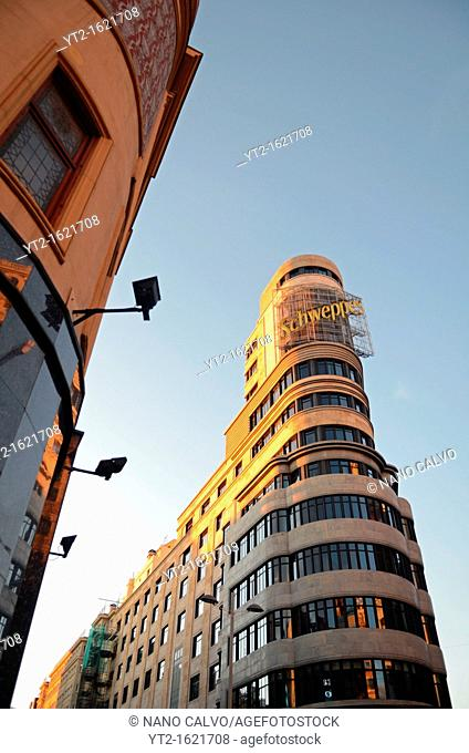 Carrion building 1933, also known as Capitol building, in Gran Via, Madrid