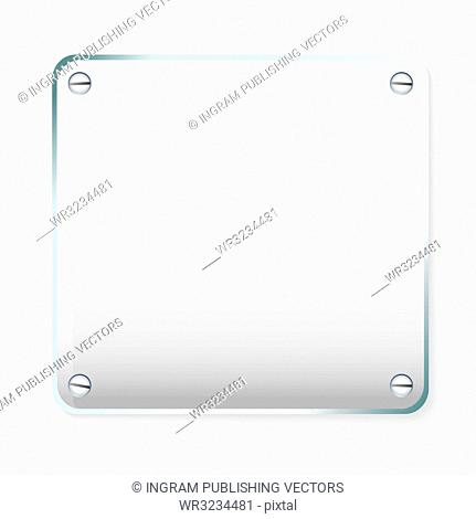 Copy space for your company name on glass plate with shadow