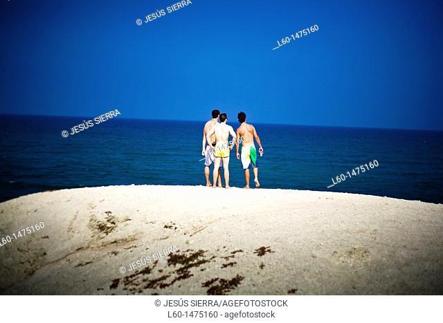 Boys in Cabo de Gata, Almeria province, Spain