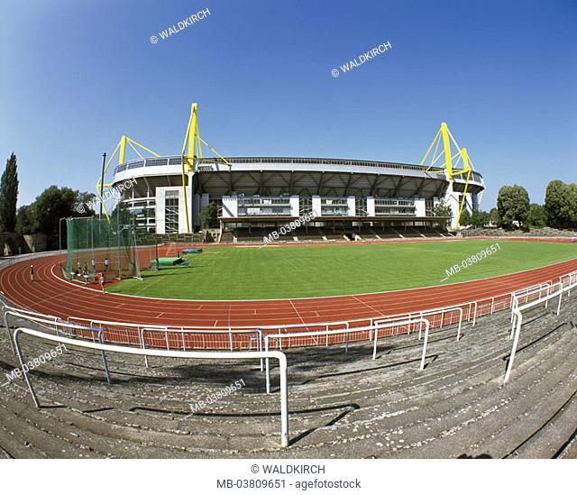 Germany, North Rhine-Westphalia,  Dortmund, Westphalian stadium, playing field  Europe, Central Europe, Ruhr area, city, dysentery metropolis, city, sight