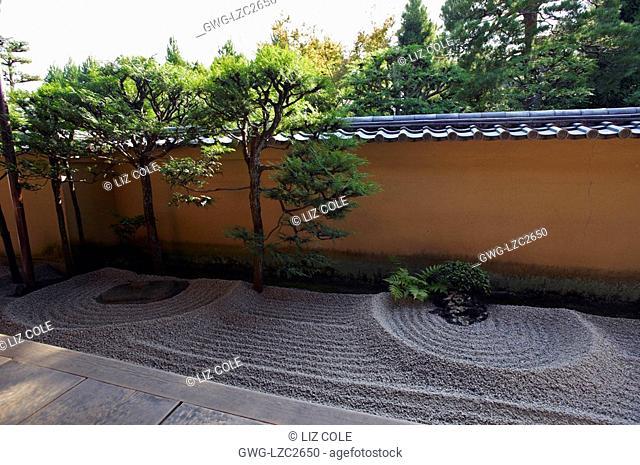 A UN GARDEN RYOGENIN SUB TEMPLE OF DAITOKUJI TEMPLE KYOTO JAPAN