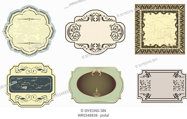 vintage style frame collection