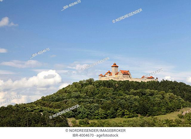 Veste Wachsenburg, medieval fortress, hotel, a castle of the Drei Gleichen, Holzhausen, Thuringia, Germany