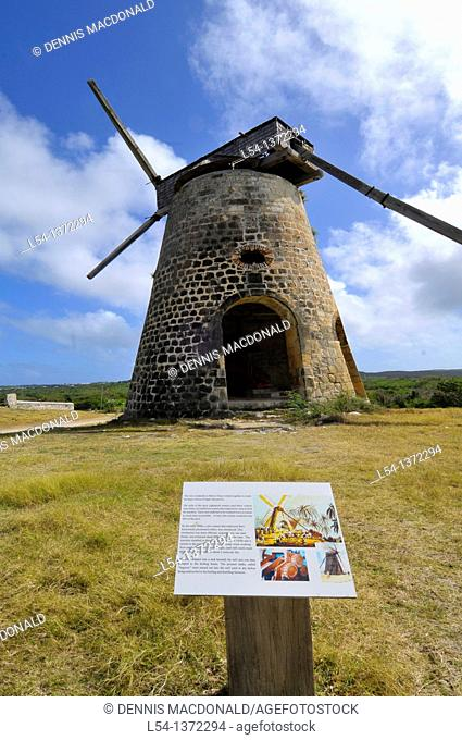 Windmill at Betty's Hope Sugar Cane Plantation St  John's Antigua Caribbean Cruise NCL