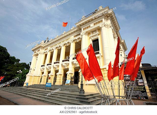 View of Opera House; Hanoi, Vietnam