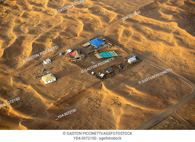 Dubai Desert Conservation Reserve. Aerial view, Dubai, United Arab Emirates