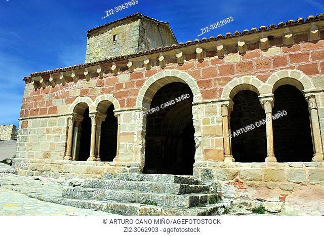 The Romanesque church of San Juan Degollado, XIIth century. Jodra del Pinar town, Guadalajara province, Spain