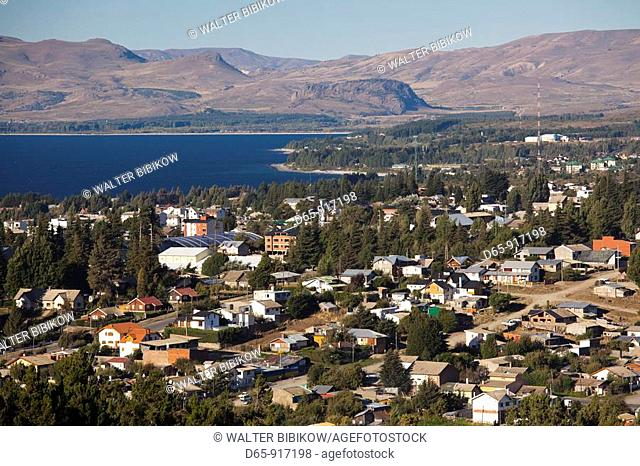 Town view from the south, San Carlos de Bariloche, Lake District, Rio Negro Province, Argentina