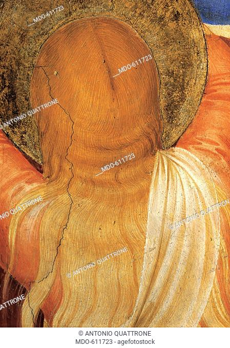 The Crucifixion and Saints, by Guido di Pietro (Piero) known as Beato Angelico, 1438 - 1446, 15th Century, fresco. Italy, Tuscany, Florence, San Marco Convent
