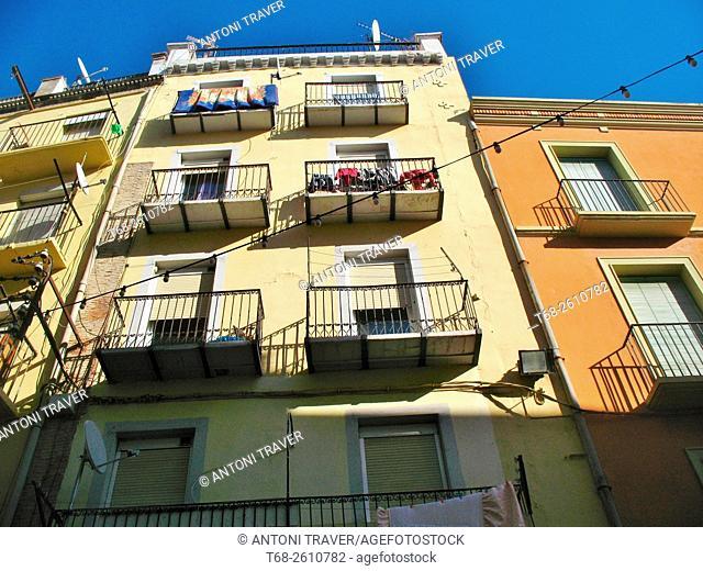 Old houses, Lleida, Catalonia, Spain
