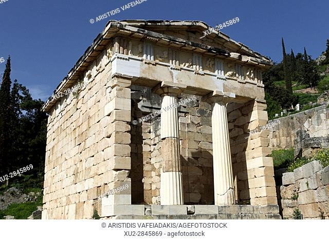 Athenian Treasury at Delphi, Greece