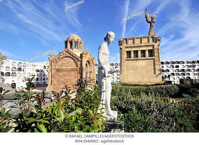 Municipal cemetery. Canet de Mar. Barcelona province, Catalonia, Spain