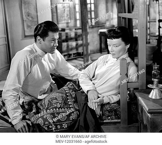 Turhan Bey & Katharine Hepburn Characters: Lao Er Tan - Middle Son, Jade Tan Film: Dragon Seed (1944) Director: Harold S. Bucquet 20 July 1944