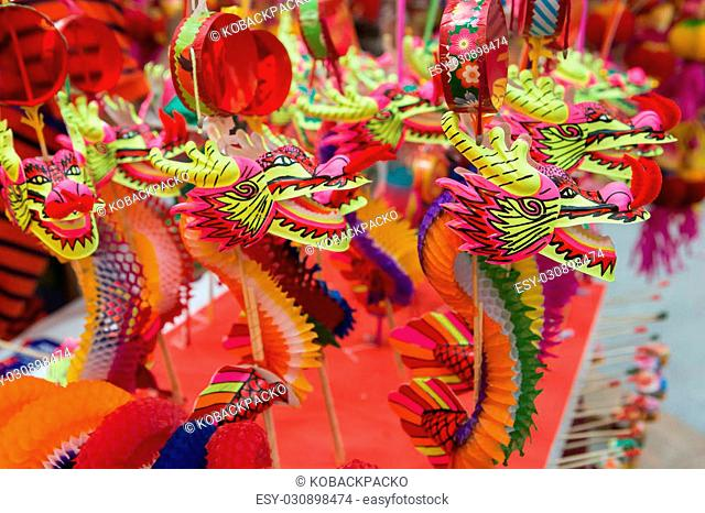 Selective focus tradition dragon chinese of Chinese New Year 2106