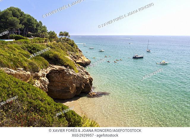 Route between Tamarit and Altafulla, Altafulla, Tarragones, Tarragona, Spain
