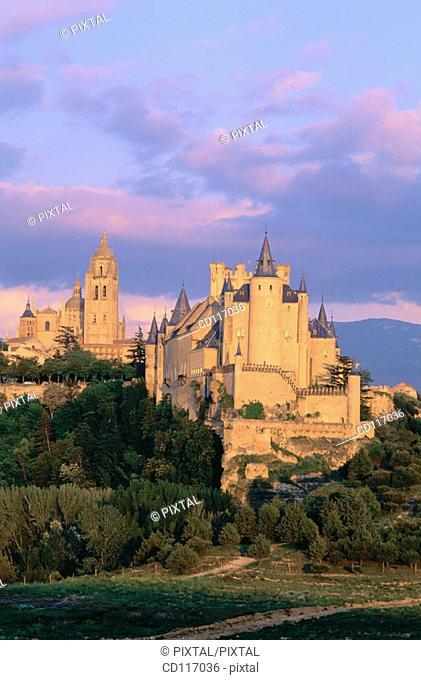 Alcazar, medieval fortress built in XII century. Segovia. Spain