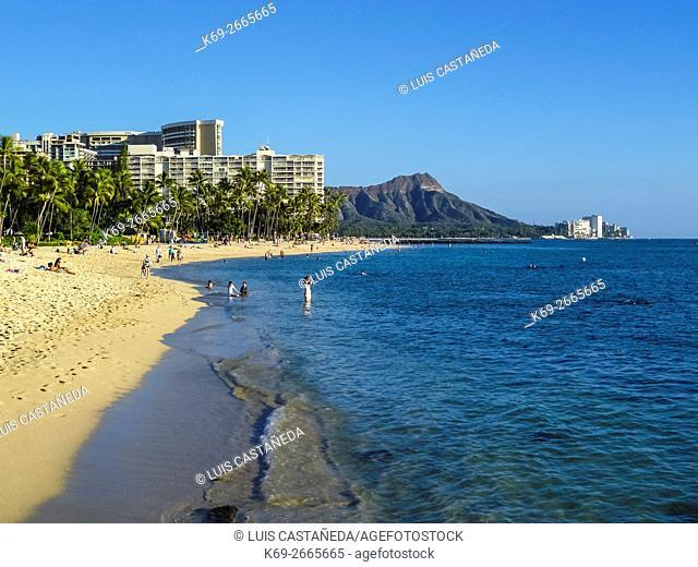 Waikiki Beach. Hawaii