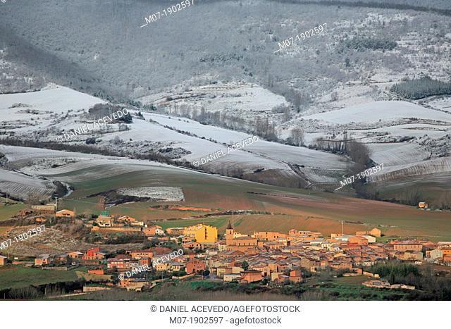 Berceo village, Cardenas valley, Rioja wine region, Demanda Mountain Range, Iberico Mountains, La Rioja, Spain
