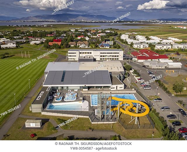 Local swimming pool, Alftanes, Iceland